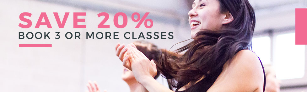 special offers - save £20 when you book 3 classes