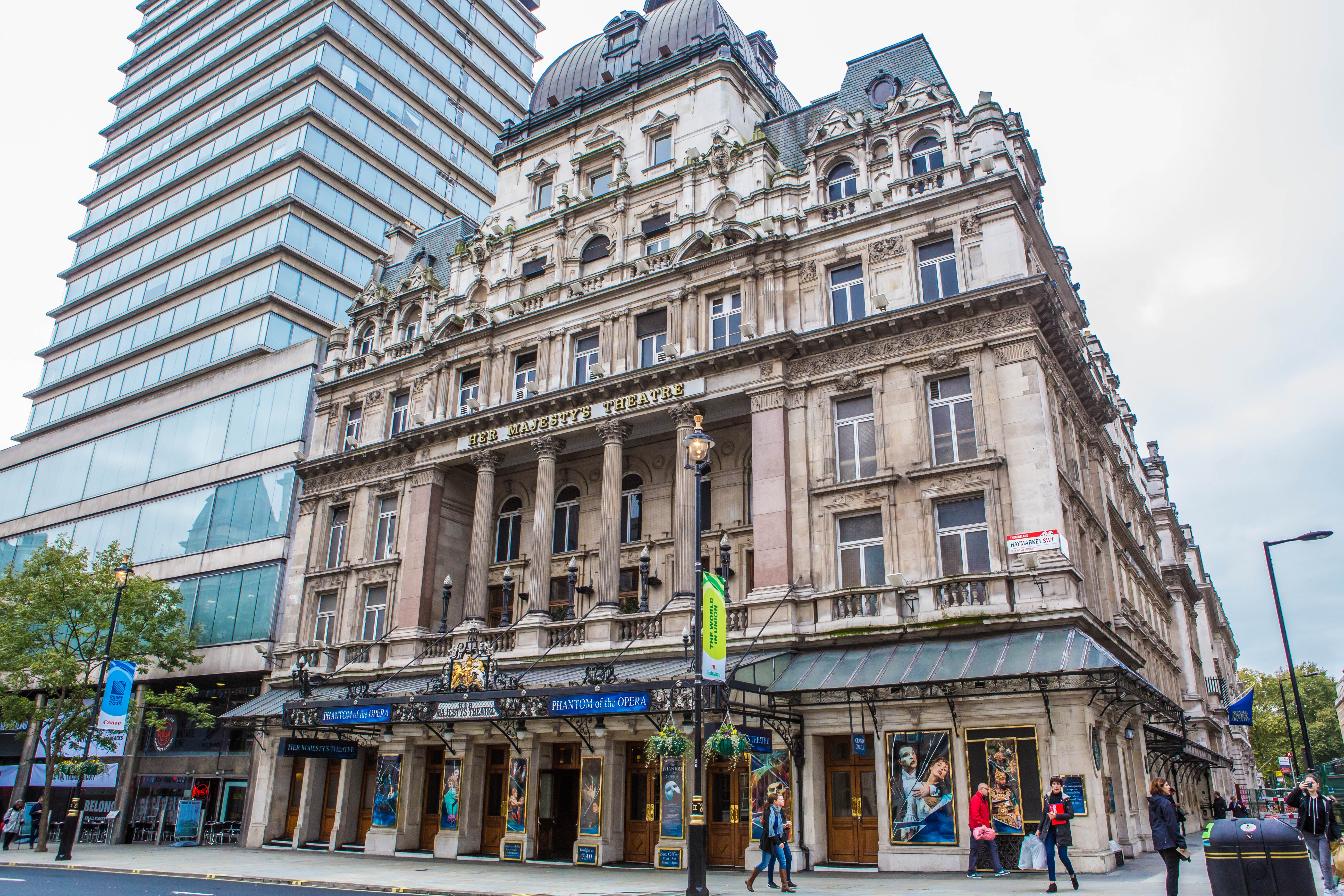 Her Majesty's Theatre, one of our new venues for 2015 where we will be running our Acting masterclasses