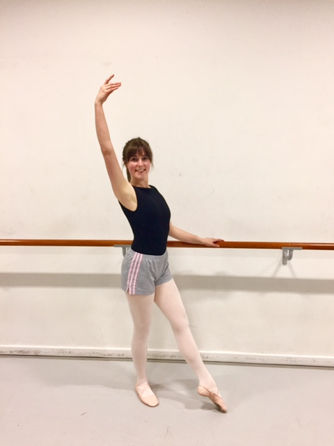 Susan at her ballet class with City Academy
