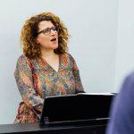 lara teaching folk and world music singing lessons at city academy