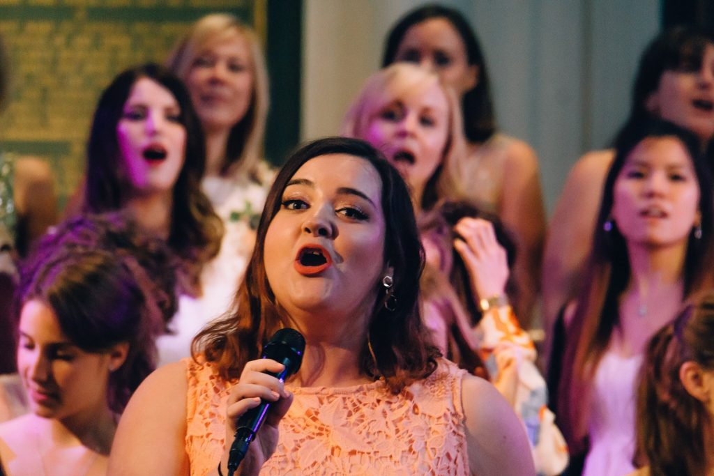 louise sparkes of city academy songbirds choir, part of bbc one's pitch battle tv show