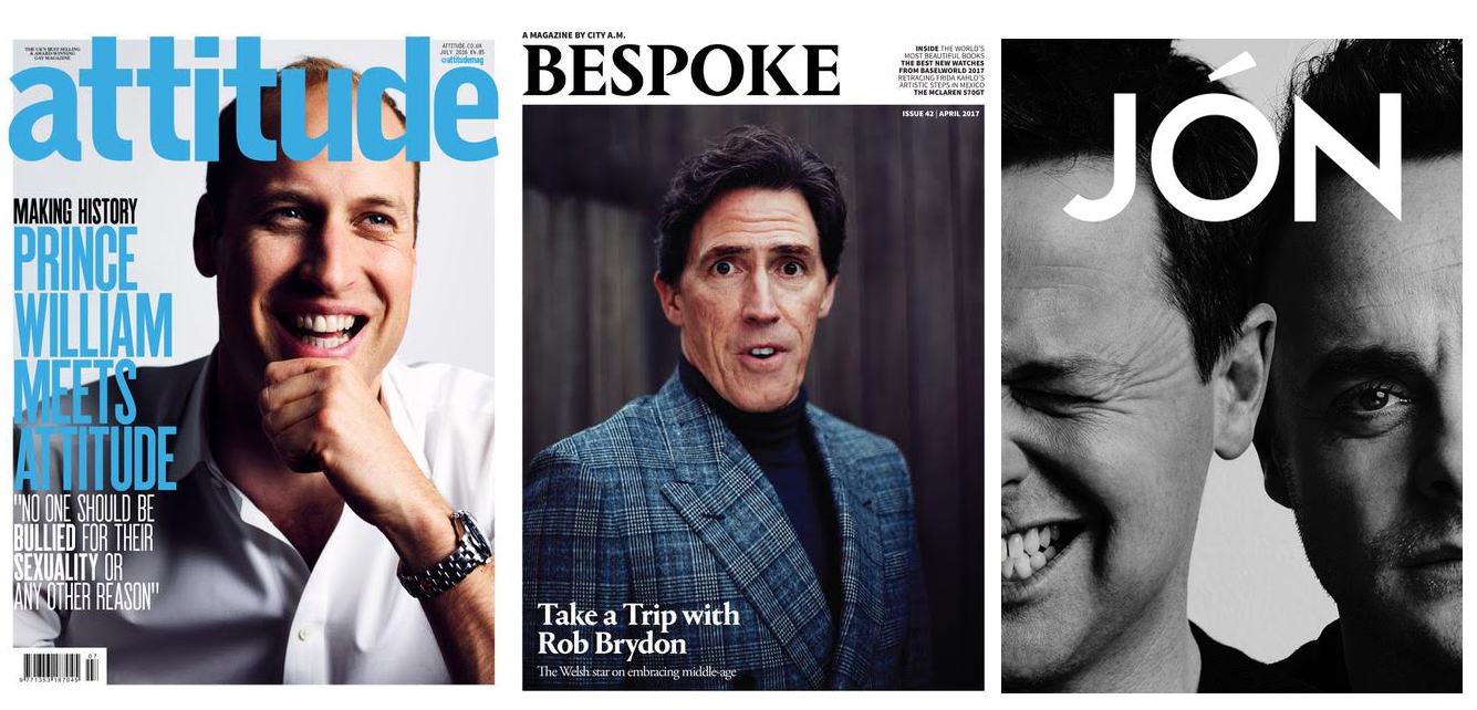 Leigh Keily portraits of Prince William, Rob Brydon and Ant & Dec