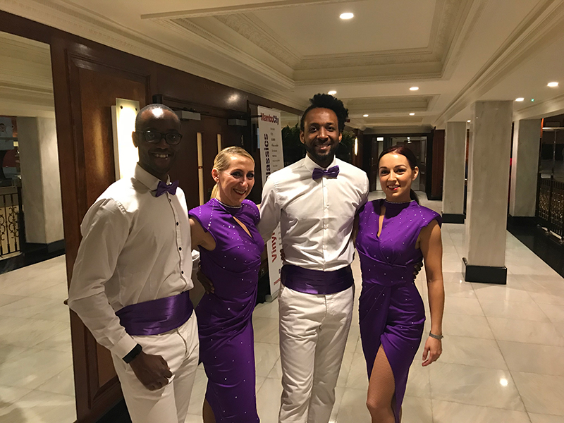 Dani K with other City Academy Salsa Tutors