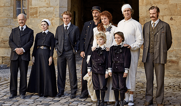 Tom Colley (middle) in The Happy Prince